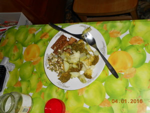 brokolice a tempeh